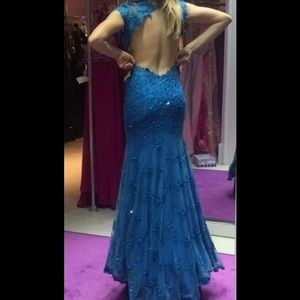 Jovani turquoise gown
